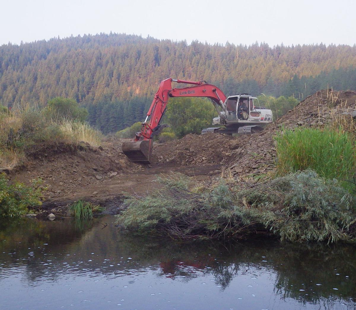 Historic mining sites reclaimed for fish