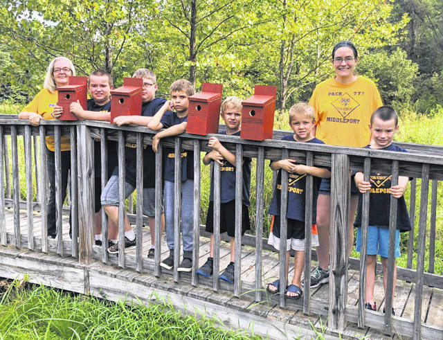 Cub Scouts make bird houses for Conservation Area
